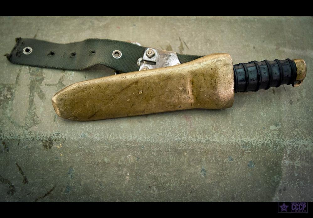 Штатный водолазный немагнитный нож