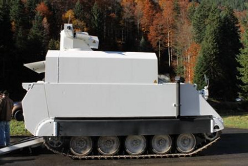 боевой лазер на технике