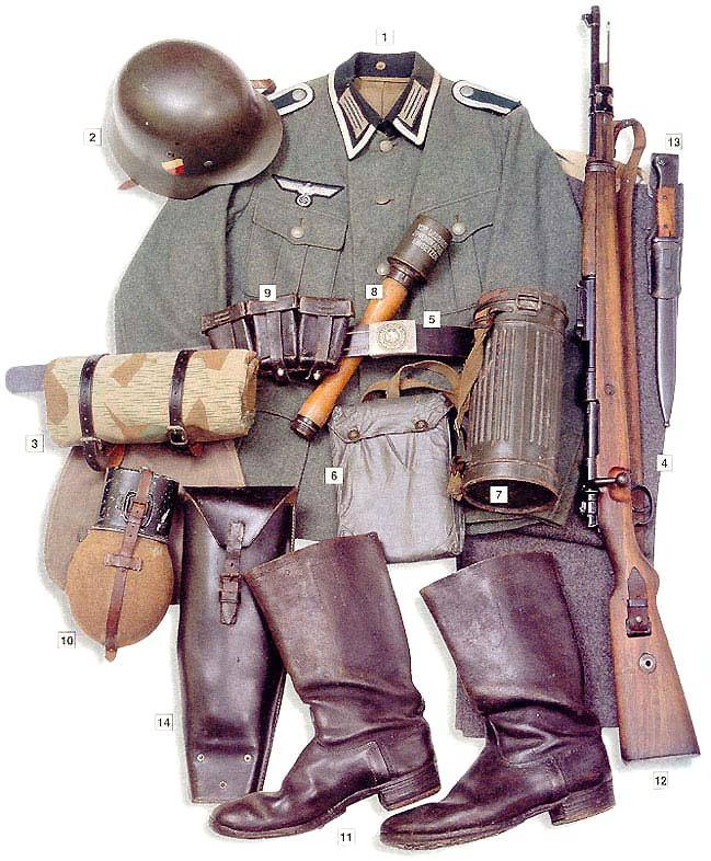 German corporal uniform (non-commissioned officer), 1939-1940