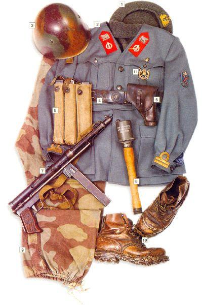 """Форма лейтенанта, RSI """"Decima MAS"""", Италия, 1943-44"""