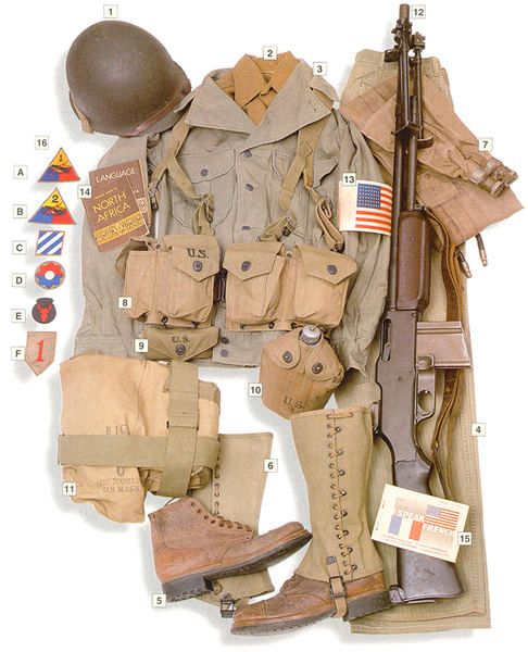 US Army Footman Uniform 1942-1945
