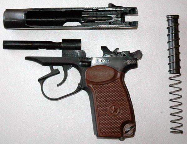 Пистолет MP-79-9TM неполная разборка фото