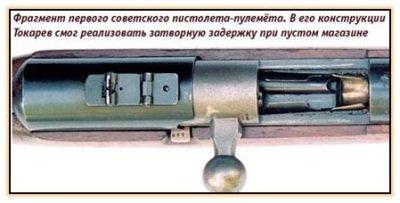 Фрагмент пистолет-пулемёта Токарева ППТ (СССР. 1927 год)