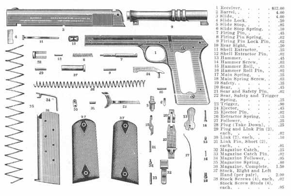 Взрыв схема Colt 1905
