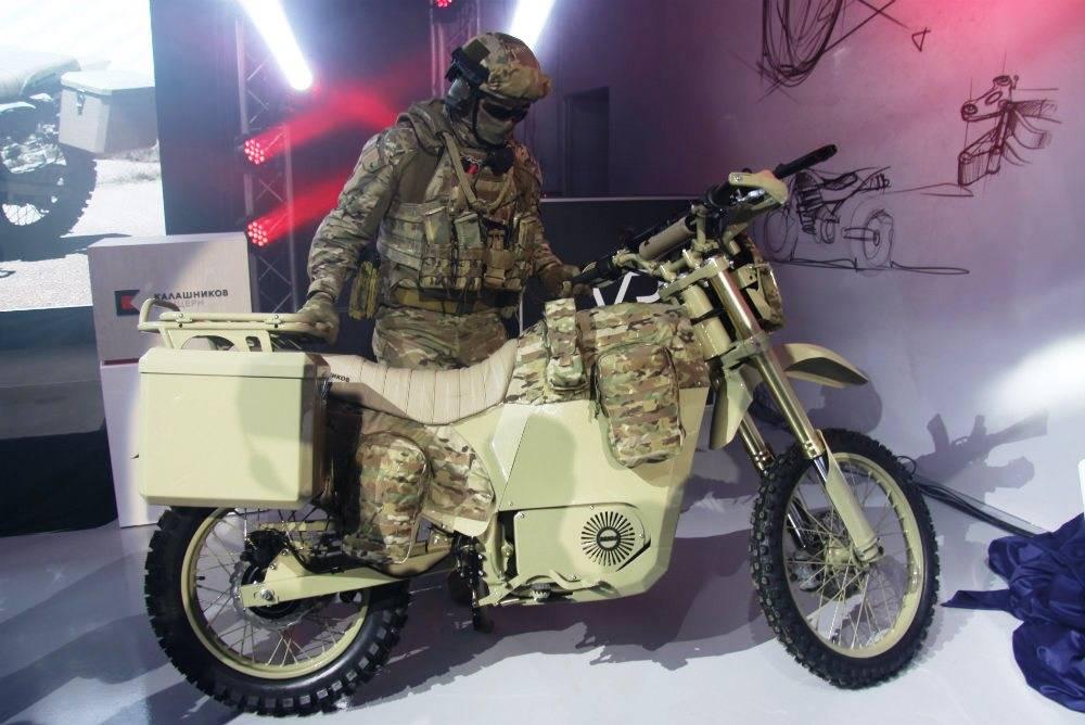 Бесшумный электромотоцикл от Калашников фото